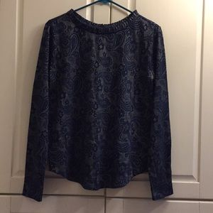 Basic Editions Top Blouse Long sleeve size M